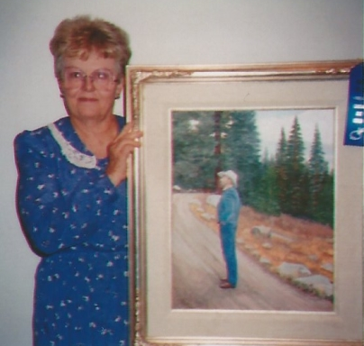 003 - shirley with painting of Leland