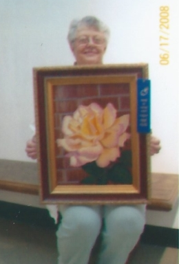 009 - shirley's painting, rose mother's peace, was a prizewinner in 2008 - Copy