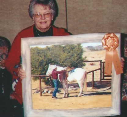 012 - shirley with painting of horse