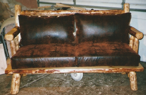 022 - bench with cushion