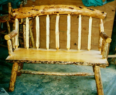 025 - bench with curved back