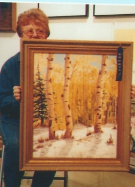 027 - shirley can't hide her talent with this forest scene