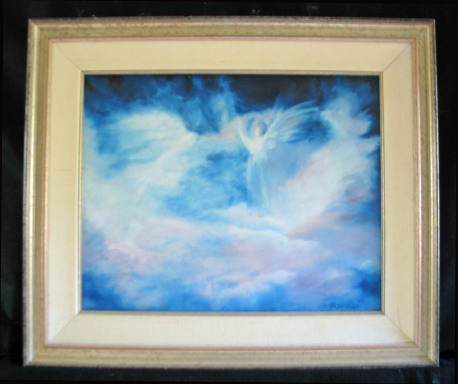 Angels In Midst Of Storm by Shirley Alexander Oil - 20 x 16 (26 x 22 - framed) $475