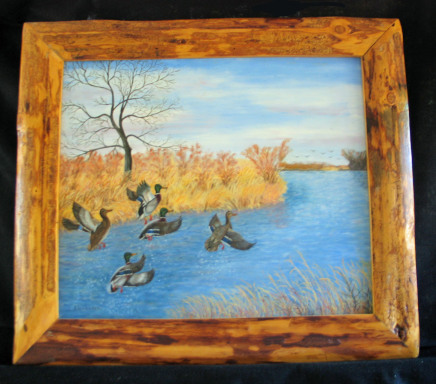 On The Wing by Leland Alexander Oil - 24 x 208 (30 x 26 - framed) $420