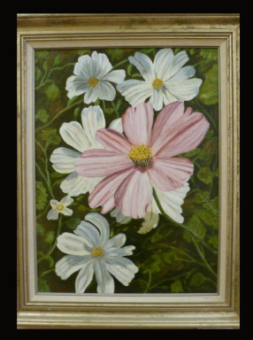 Crested Butte Flowers by Leland Alexander Oil SOLD!!!