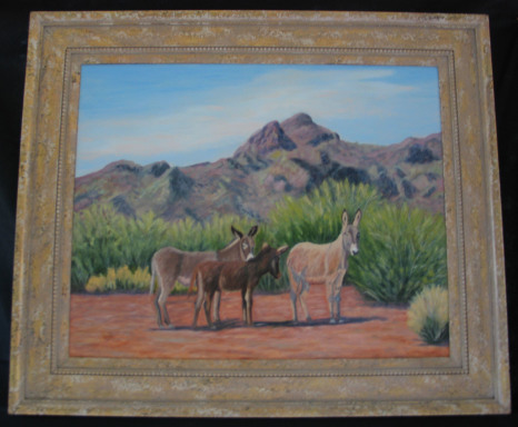 And Baby Makes Three by Shirley Alexander Oil - 30 x 246 (38 x 26 - framed) $500