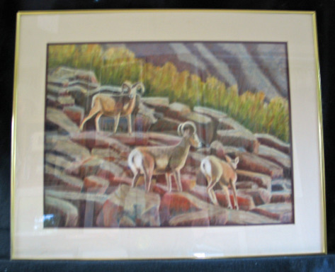 Bighorn View by Shirley Alexander Oil $200