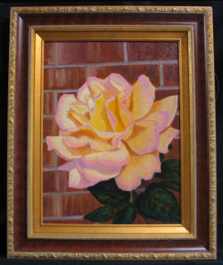 Rose - Mother's Peace  by Shirley Alexander Oil - 12 x 16 (17 x 21 - framed) $300
