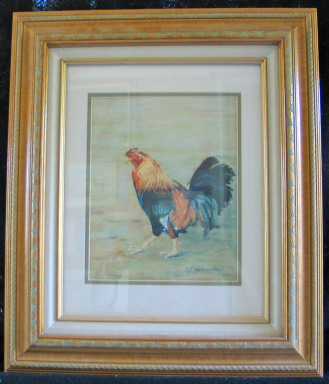 Rooster by Shirley Alexander Pastel - 11 x 15 (17 x 20 - framed) $200