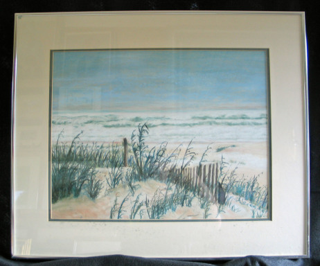 Waves of Beauty by Shirley Alexander Pastel - 18 x 24 (24 x 20 - framed) $250
