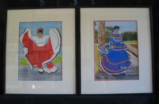 Spanish Dancers by Shirley Alexander Pastel - 9 x 12 (15 x 189 - framed) $150 each