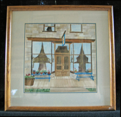 Old Hotel by Shirley Alexander Watercolor - 9 x 9 (14 x 14 - framed) $125