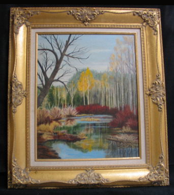 Fall Beauty by Shirley Alexander Oil - 16 x 204 (24 x 28 - framed) Contact for price