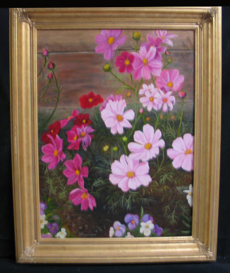 Cosmos' Holiday by Shirley Alexander Oil - 18 x 24 (24 x 309 - framed) Contact for price