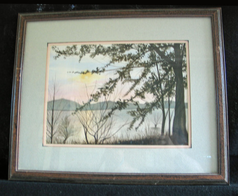 Lake Quinault by Shirley Alexander Watercolor - 12 x 9 (19 x 15 - framed) Contact for price
