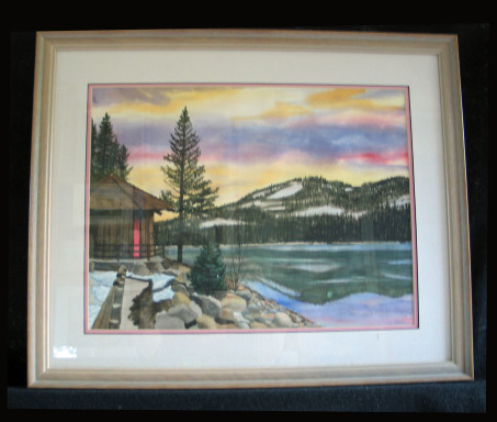 Donner Lake by Shirley Alexander Watercolor - 16 x 12 (21 x 17 - framed) Contact for price